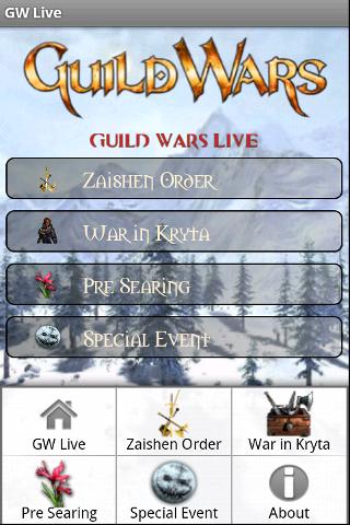 Guild Wars Live Home